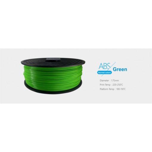 3D FILAMENT 1,75mm ABS Zöld (1kg-os tekercs