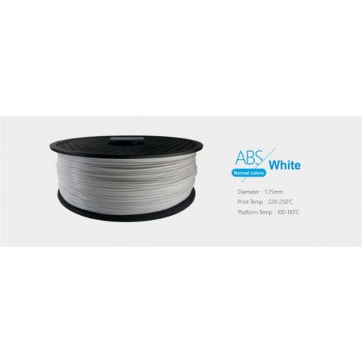 3D FILAMENT 1,75mm ABS Fehér (1kg-os tekercs