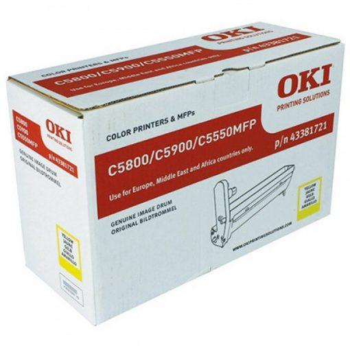 Oki C5800,5900 Eredeti Yellow Dobegység
