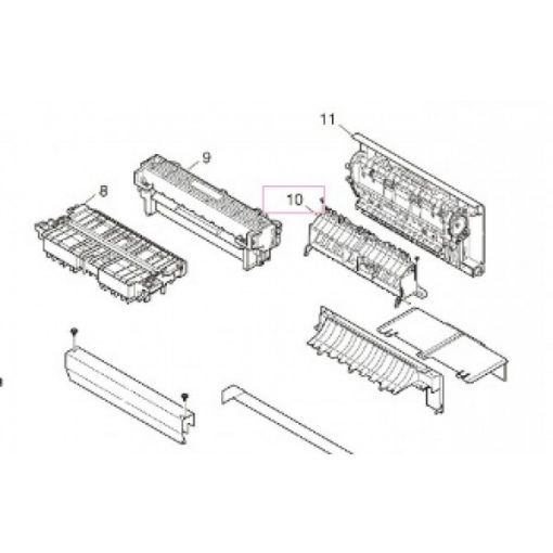 OKI 44563801 Guide assy eject L B411/431