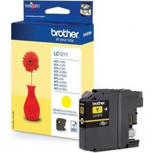 Brother LC121Y Eredeti Yellow Tintapatron