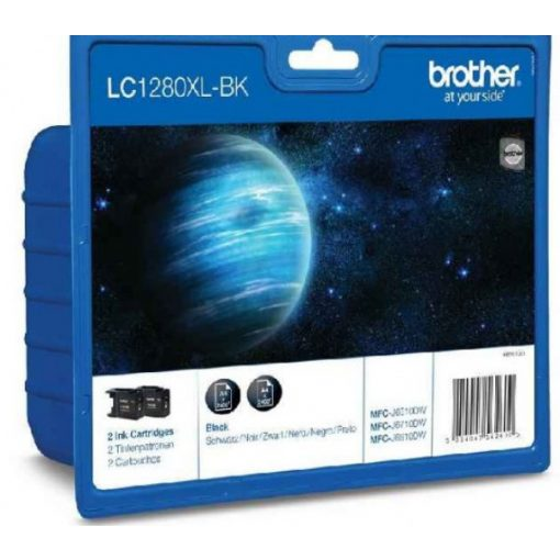 Brother LC1280XLBK2 Eredeti Multipack Tintapatron