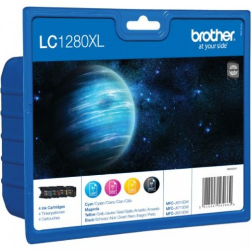 Brother LC1280XLBKCMY Eredeti Multipack Tintapatron