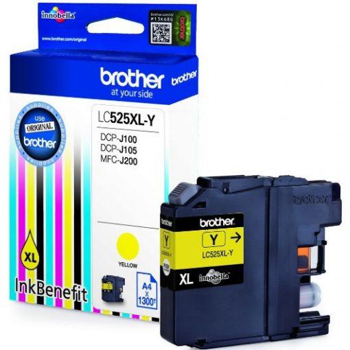 Brother LC525XLY Eredeti Yellow Tintapatron