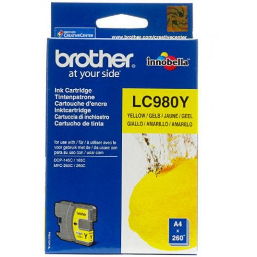 Brother LC980Y Eredeti Yellow Tintapatron