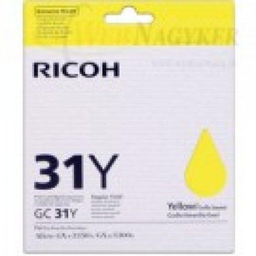 Ricoh GX3300/3350 ink GC31Y Genuin Yellow
