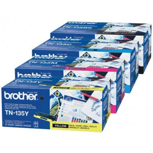 Brother TN135Y Eredeti Yellow Toner